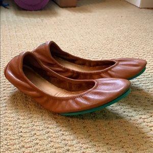 Tan Tieks ballet flat shoes